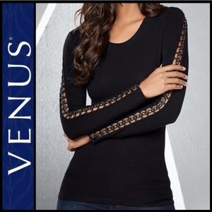 Venus Sexy Open Chain Sleeve Detail Blouse